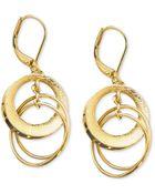 Anne Klein Circle Drop Earrings - Lyst