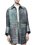 Stella McCartney Crocodile Jacquard Isabeli Jacket - Lyst