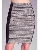 Bebe Caroline Tweed Pencil Skirt - Lyst