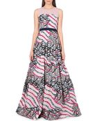 Peter Pilotto Circuit Strapless Gown - Lyst