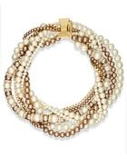 Kate Spade New York Gold-tone Faux Pearl and Bead Statement Torsade Necklace - Lyst