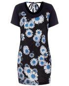 Paul Smith Navy Daisies Print Jersey Dress - Lyst