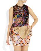 Delpozo Floral-Print Silk-Chiffon Top - Lyst