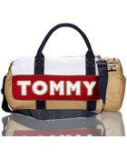 Tommy Hilfiger Khaki Duffle Bag - Lyst