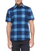 Rag & Bone Short-Sleeve Check Button-Down Shirt - Lyst