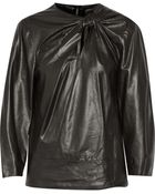 Isabel Marant Bora Leather Top - Lyst