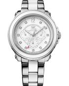 Juicy Couture Women'S Pedigree White And Stainless Steel Bracelet Watch 42Mm 1901130 - Lyst