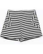 Zara Striped Shorts - Lyst