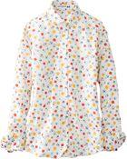 Uniqlo Women Idlf Cotton Lawn Printed Long Sleeve Shirt - Lyst