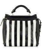 3.1 Phillip Lim Black And White Small Ryder Satchel - Lyst