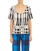 Ace & Jig Tribal-Pattern Shop T-Shirt - Lyst