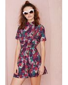 Nasty Gal In Bloom Dress - Lyst