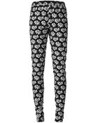 Jean Paul Gaultier Flower Appliqué Trousers - Lyst
