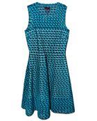 Cynthia Rowley Gingham Mesh Inset Dress - Lyst