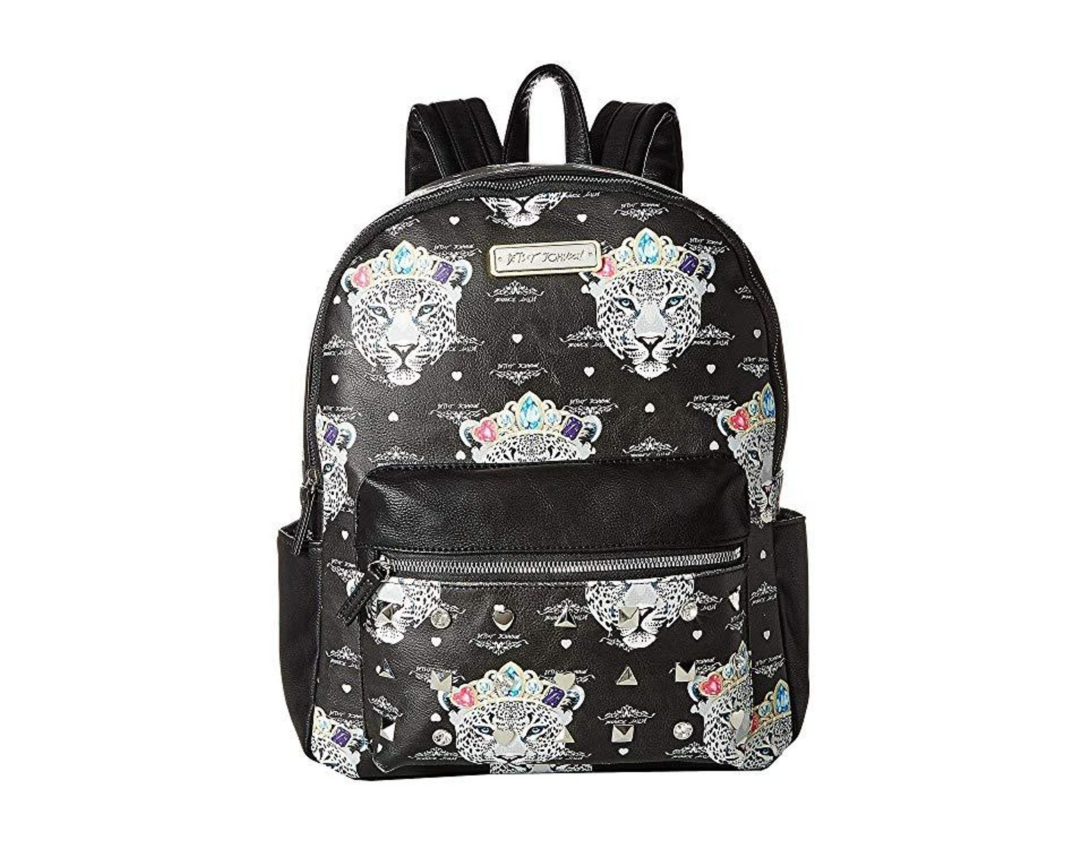 90444ab9f9d1 Betsey Johnson Snow Queen Of The Jungle Print Backpack (black/multi) Backpack  Bags in Black - Lyst