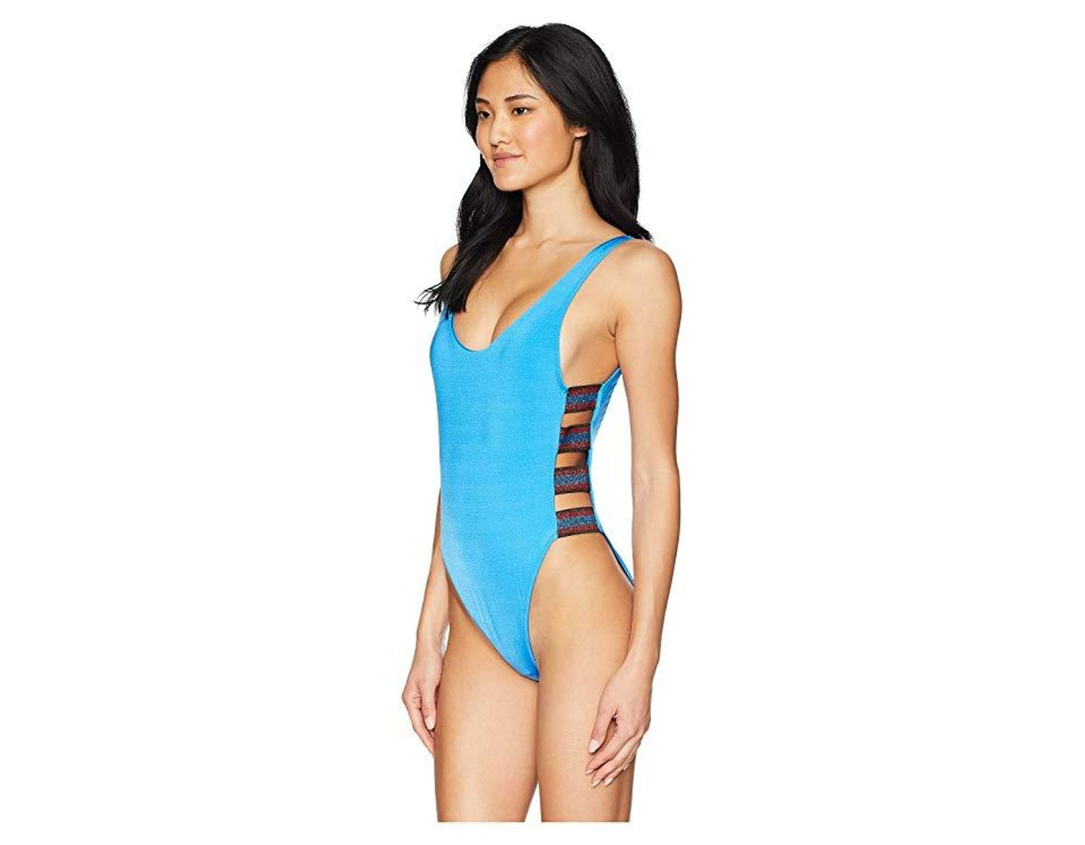 022beb9a2294a The Bikini Lab Route 66 Strappy One-piece Swimsuit (azul) Swimsuits One  Piece in Blue - Save 19% - Lyst