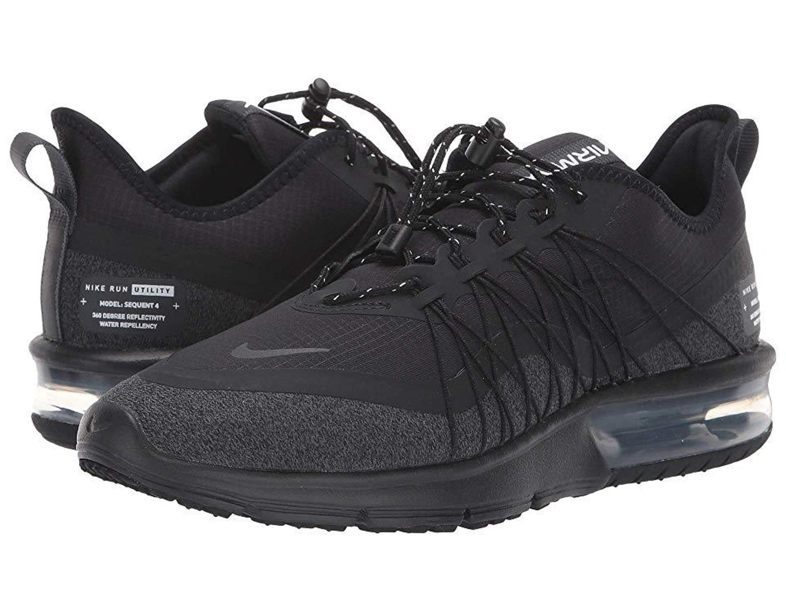 4cada81a6fc Women's Air Max Sequent 4 Shield (black/anthracite/white) Running Shoes