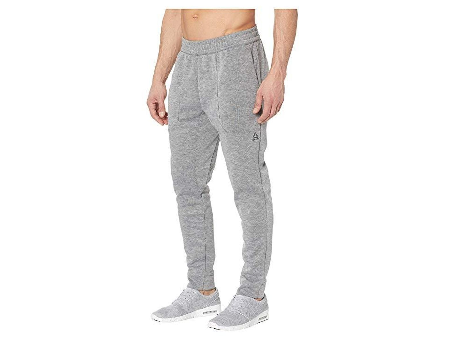 69e249f51b Reebok Workout Ready Melange Double Knit Pant (medium Grey Heather ...
