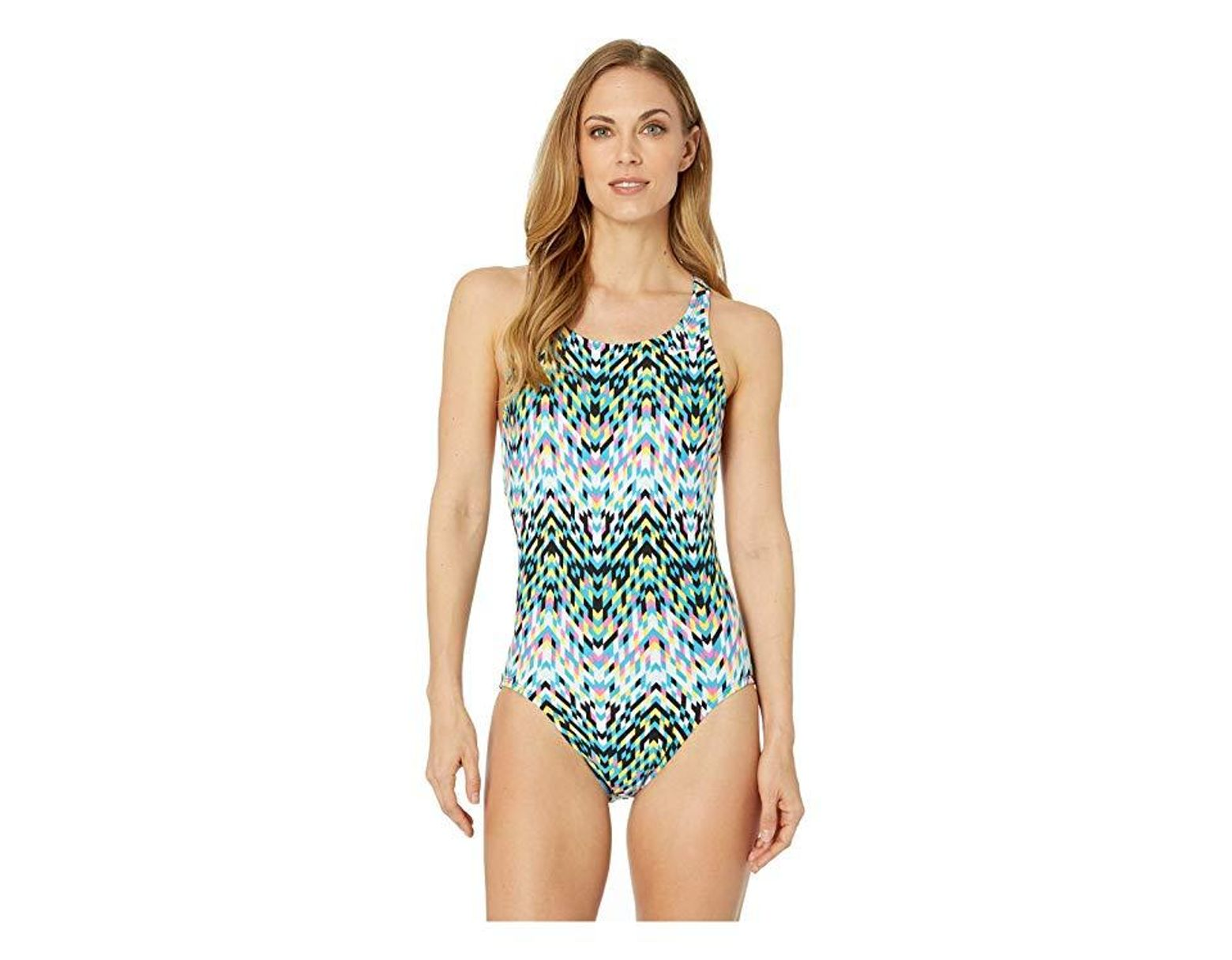 a1e56be8b8 Nike Digi Arrow Power Back One-piece (black) Swimsuits One Piece in Black -  Save 41% - Lyst