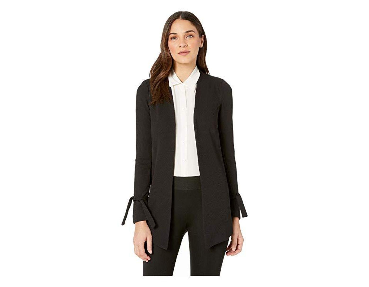 fa583bb523b BCBGeneration Tuxedo Knit Long Blazer Jacket (black) Clothing in Black -  Save 44% - Lyst