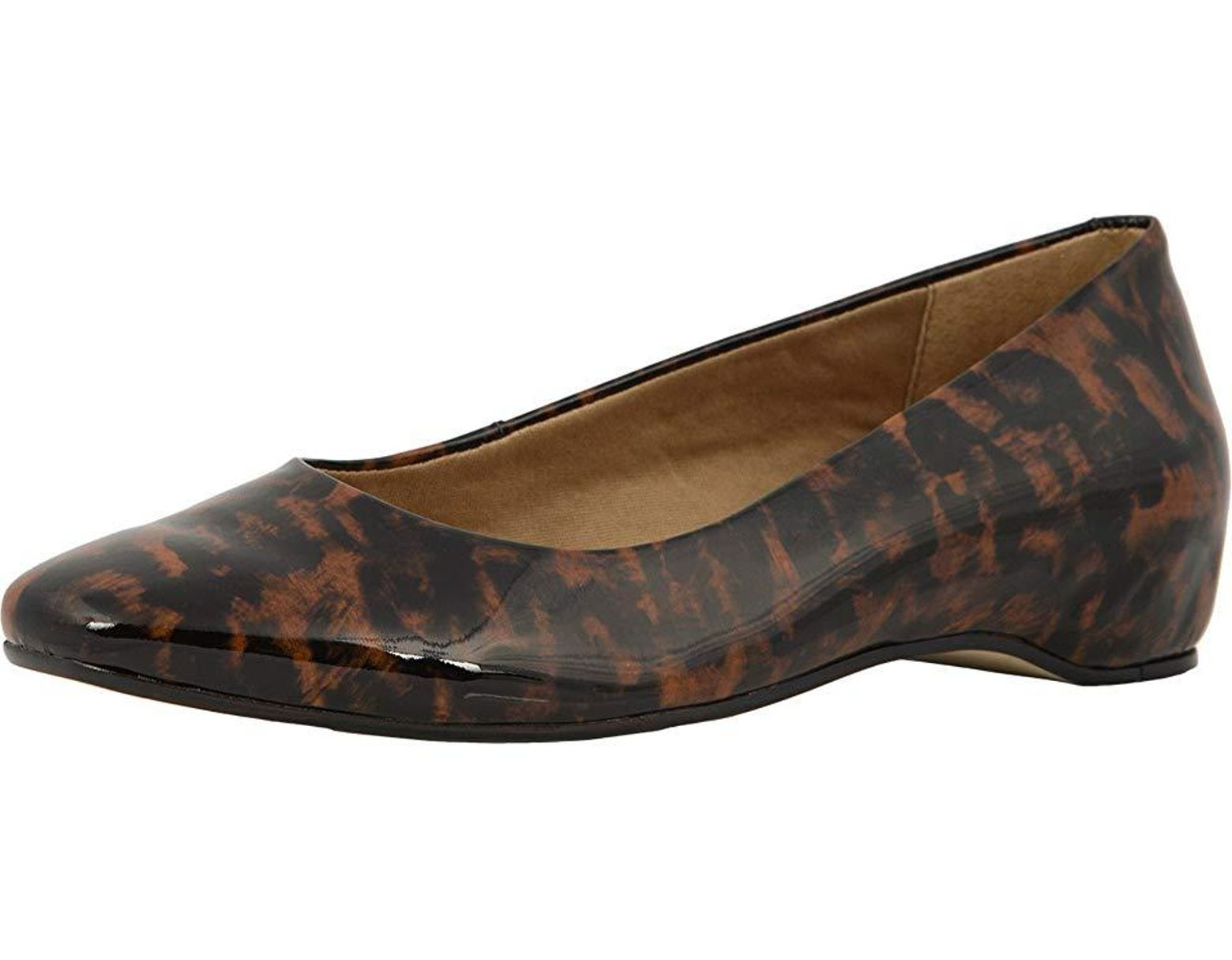 65b0abfcdceb Walking Cradles Pisces (leopard Patent) Flat Shoes in Brown - Save 34% -  Lyst