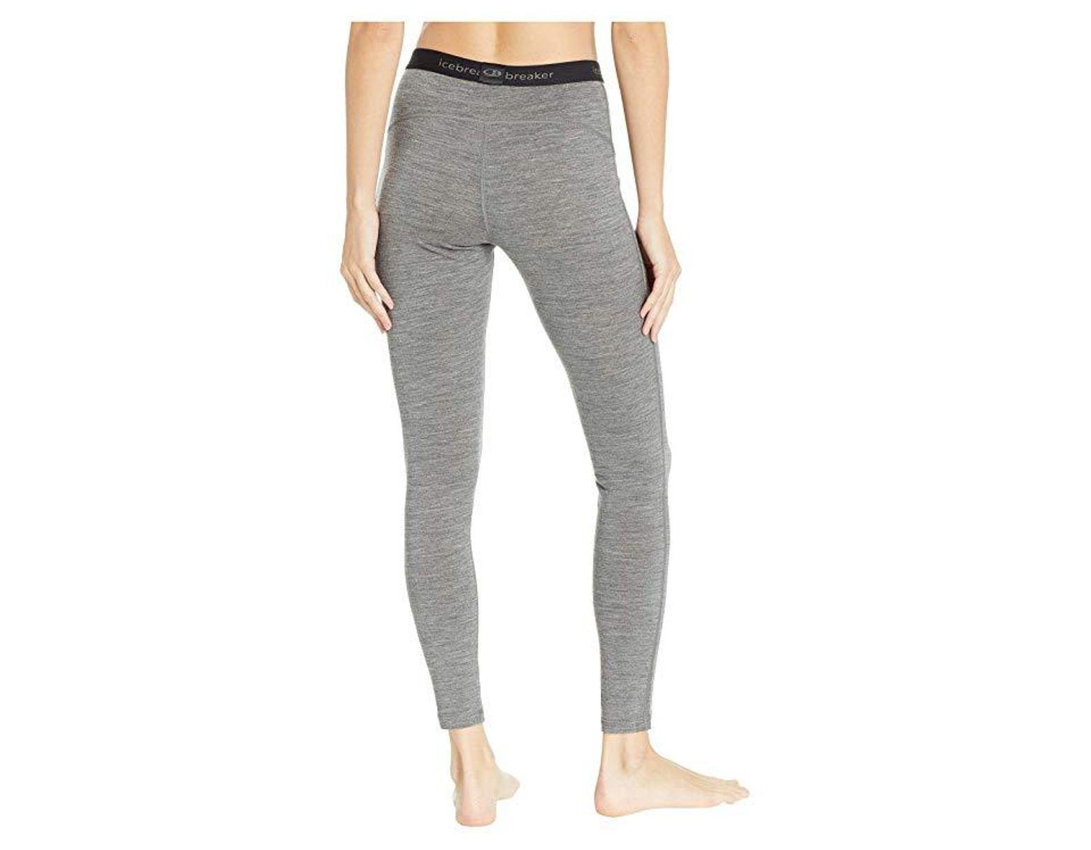 b2aabe816f6 Icebreaker 200 Oasis Merino Base Layer Leggings (gritstone Heather) Casual Pants  in Gray - Lyst
