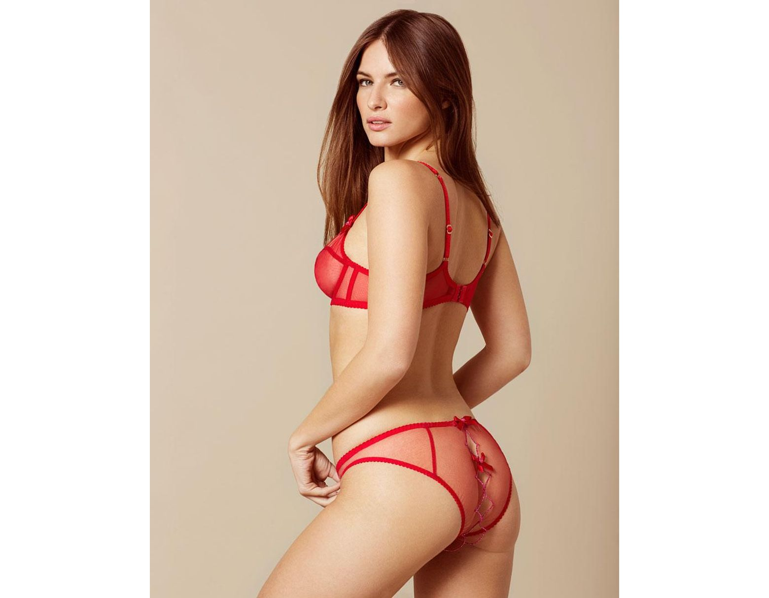 4852737b40354 Agent Provocateur Lorna Ouvert Red And Pink in Red - Lyst