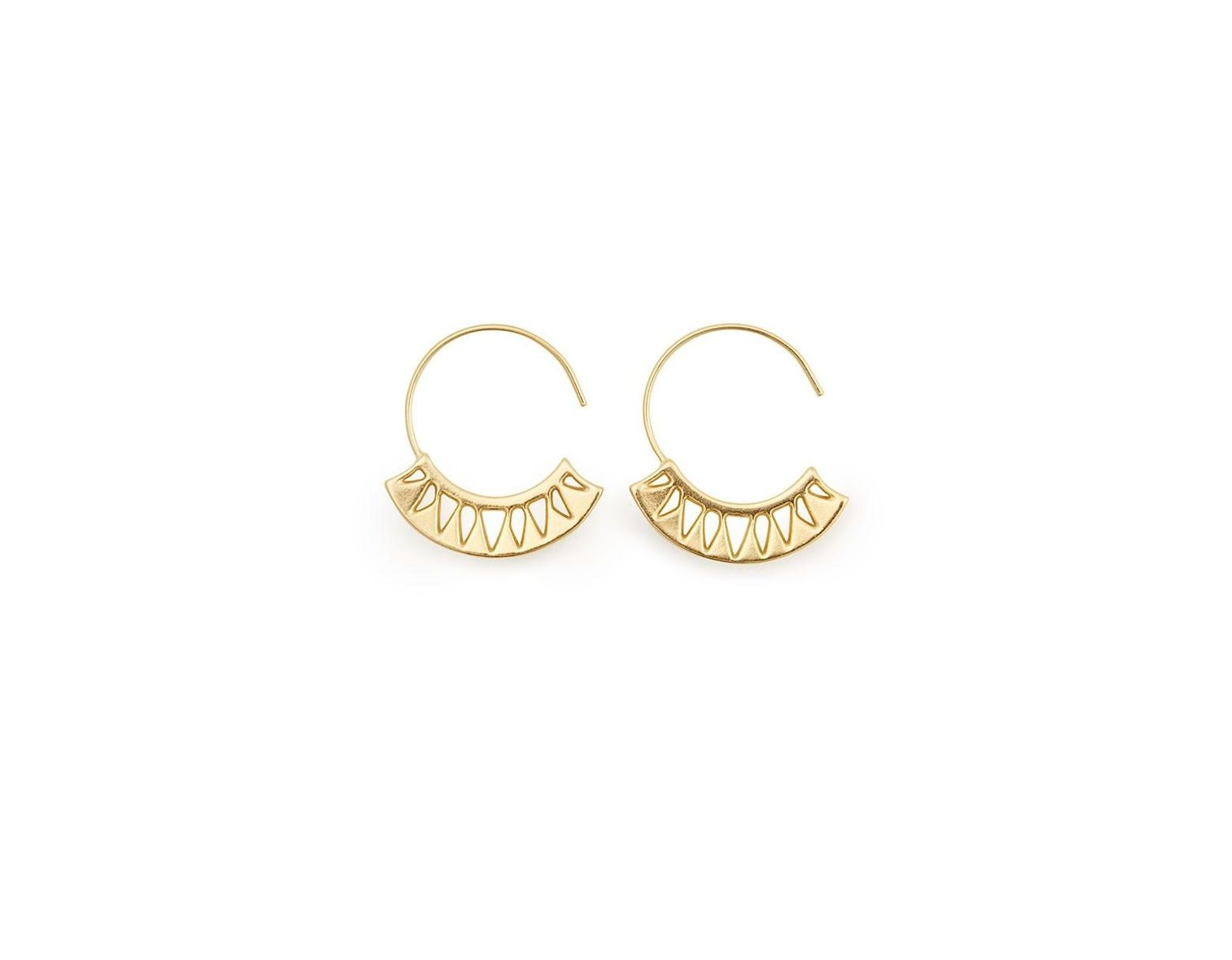 f207f3bdc ALEX AND ANI Blue Lotus Hoop Earrings in Metallic - Save 42% - Lyst