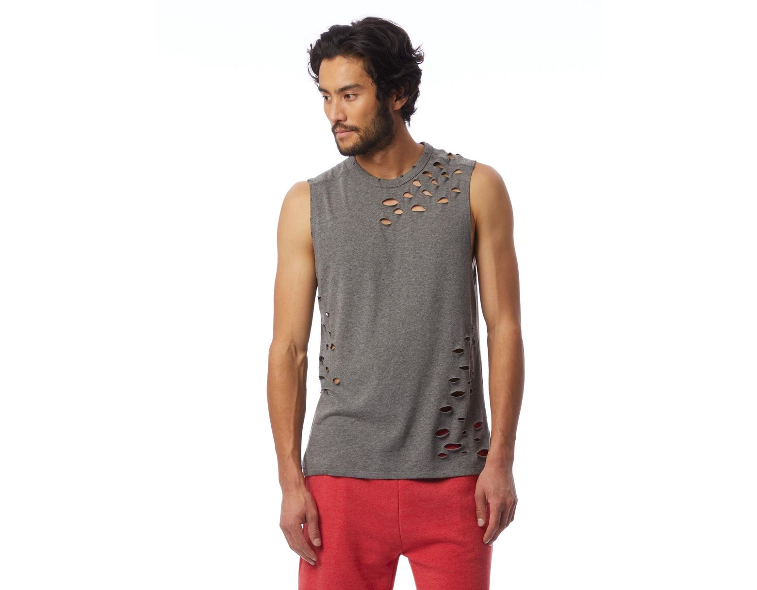 1066987c Alternative Apparel Keeper Super Distressed Vintage Jersey Muscle Tank Top  in Gray for Men - Lyst