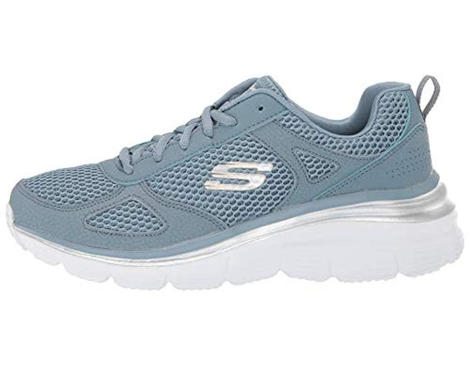 Fashion In Lyst Skechers Mate Blue Perfect Fit Sneaker O80wkNPnX