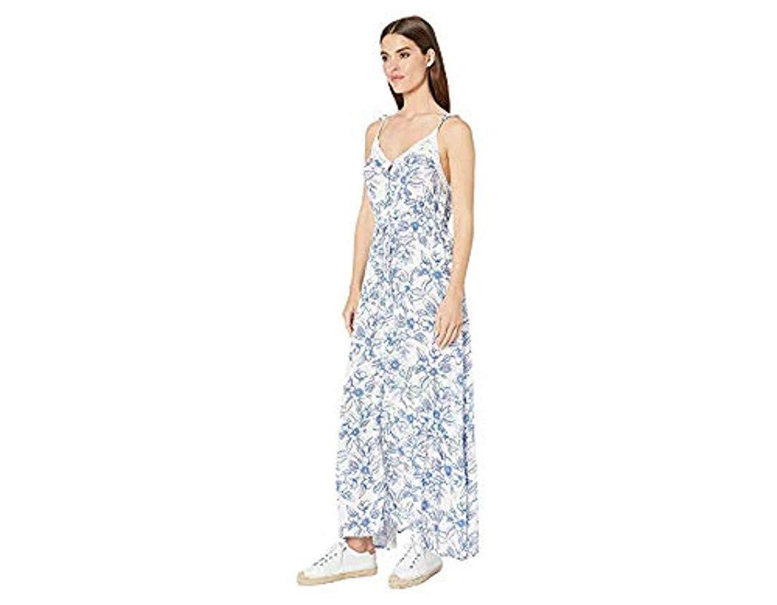 c4cc5a67f5c Roxy Hot Summer Lands Long Dress in Blue - Lyst
