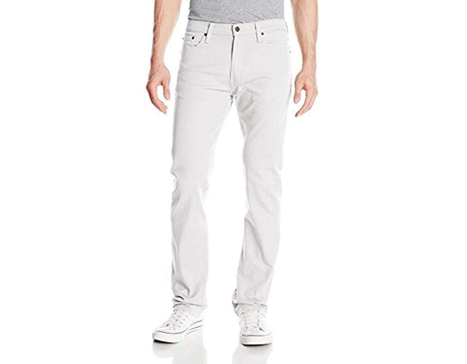 b33b59b031f Levi's 513 Slim Straight Jean in White for Men - Save 19% - Lyst