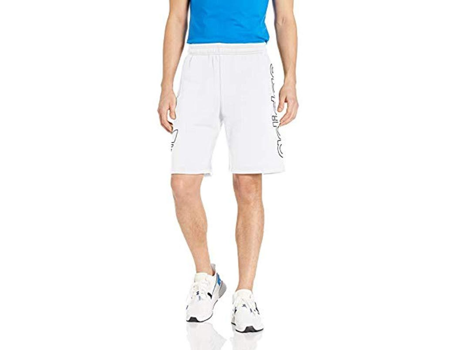 ca2e99dcb0ea9 adidas Originals French Terry Outline Shorts in White for Men - Lyst