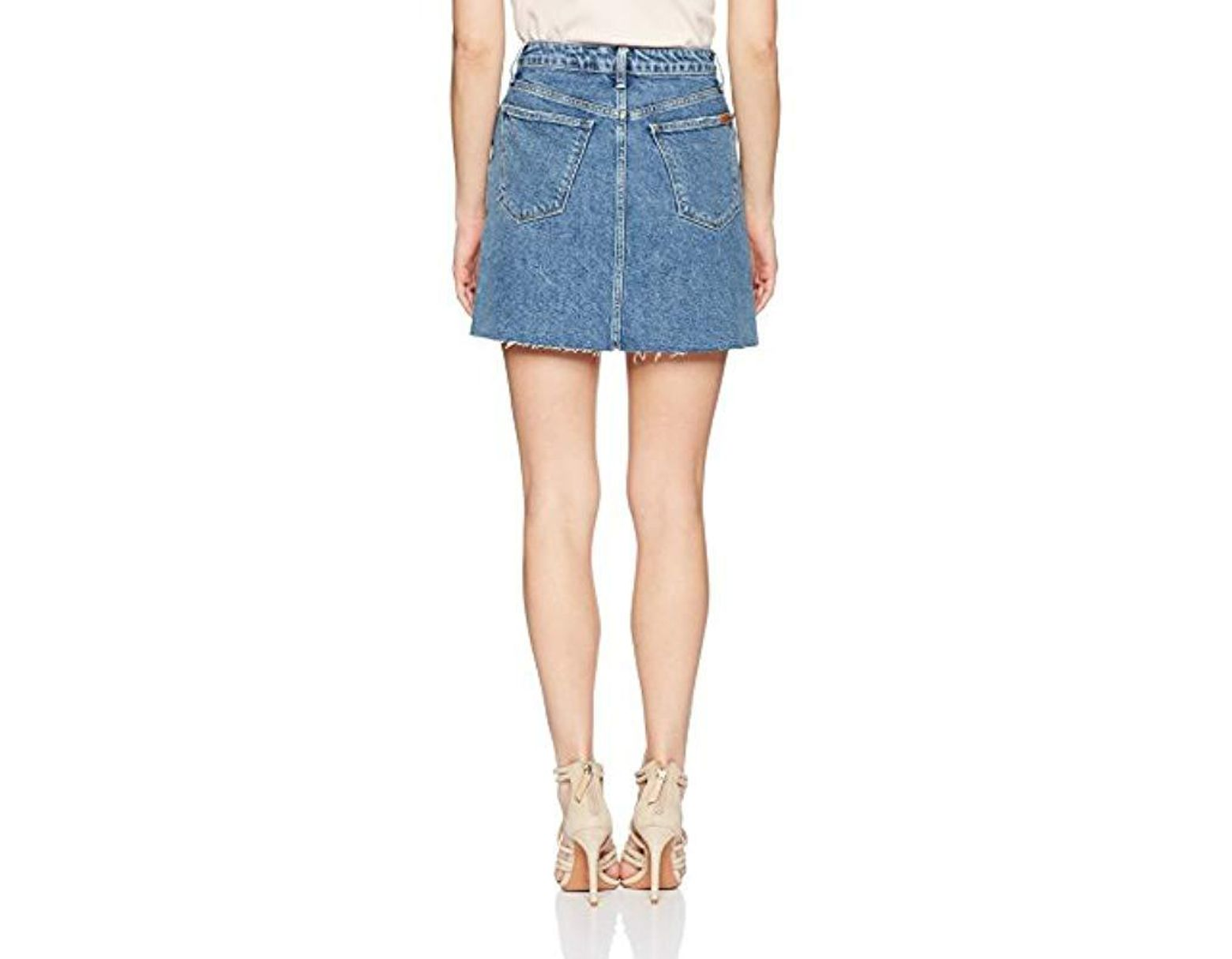 8a209fb6c0 Joe's Jeans Bella High Rise Jean Skirt in Blue - Save 64% - Lyst