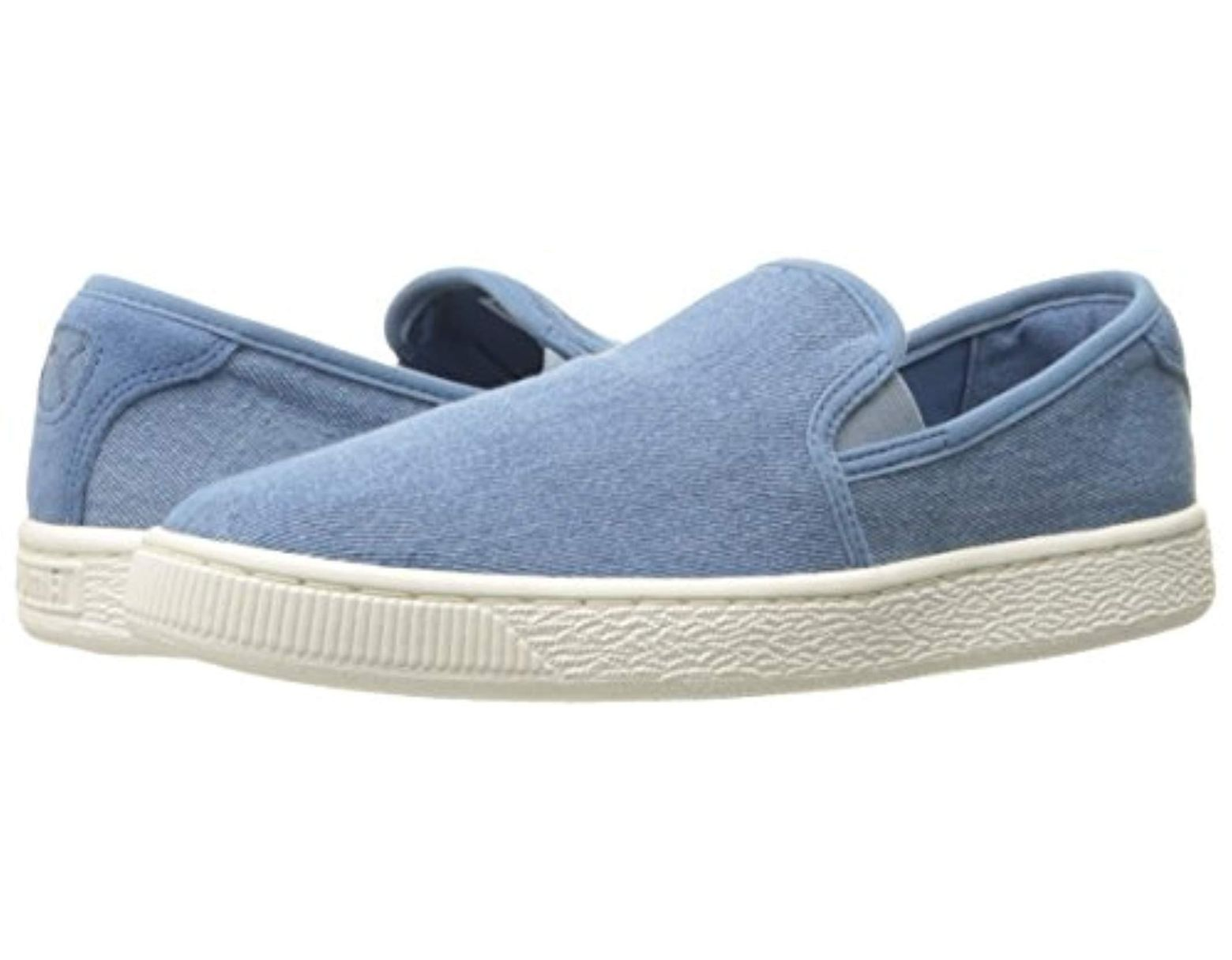 more photos 90118 71727 Women's Blue Basket Classic Slip On Denim Fashion Sneaker