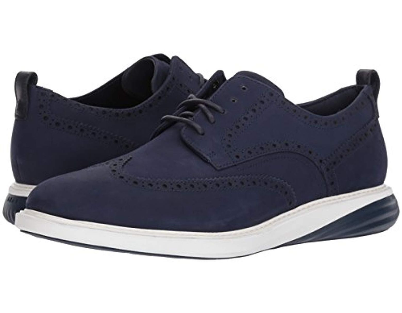 4a26332b8f9ae Cole Haan - Blue Grandevolution Shortwing Oxford for Men - Lyst