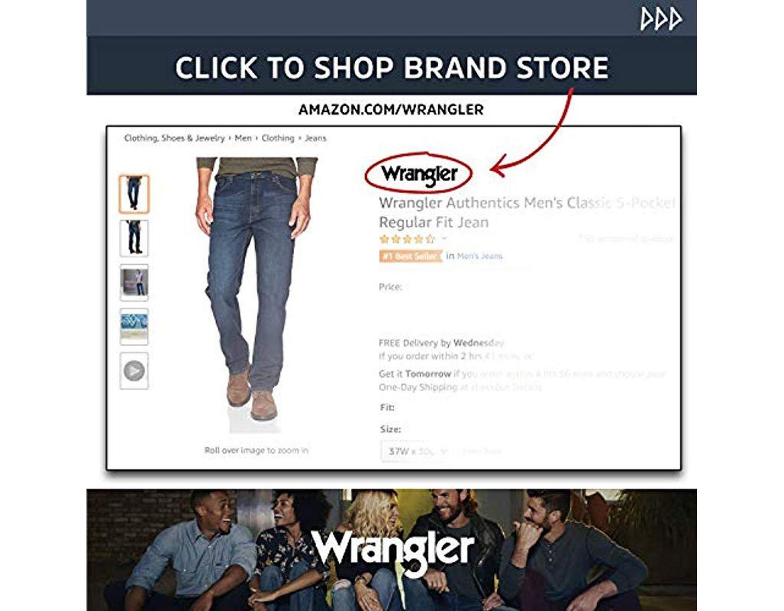 0517895a386 Wrangler Authentics Fleece Lined 5 Pocket Pant in Blue for Men - Lyst