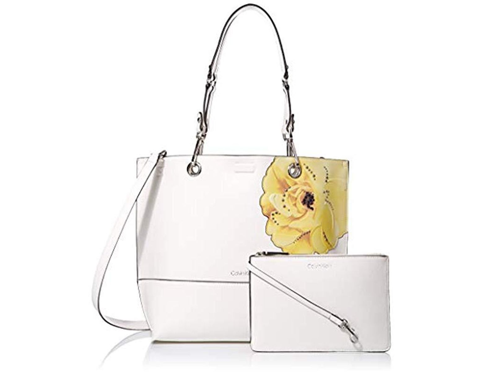 b093e74a7 Calvin Klein Sonoma Reversible Novelty North/south Tote in White - Save 5%  - Lyst