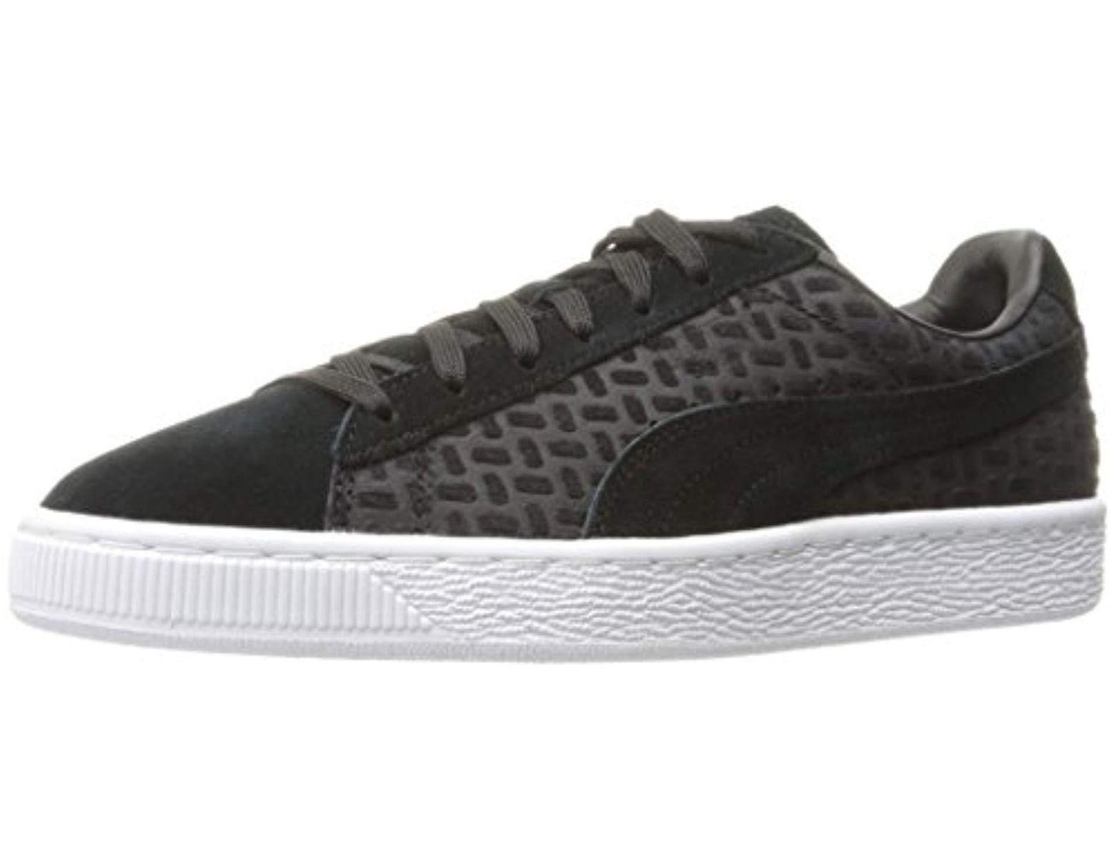 Lyst PUMA Suede Classic Emboss V2 Fashion Sneaker in Black
