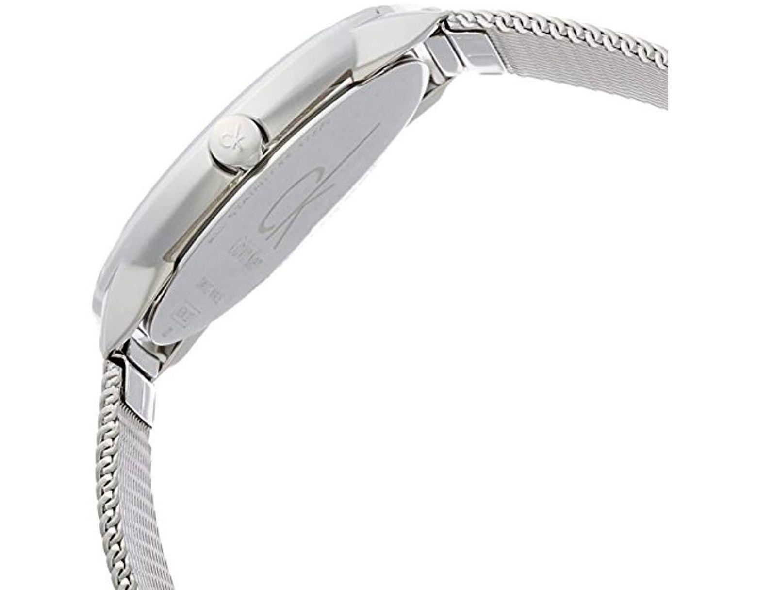 76af8f908136b Femme Analogique Quartz Montre avec Bracelet en Acier Inoxydable K3M2212N Calvin  Klein - Lyst