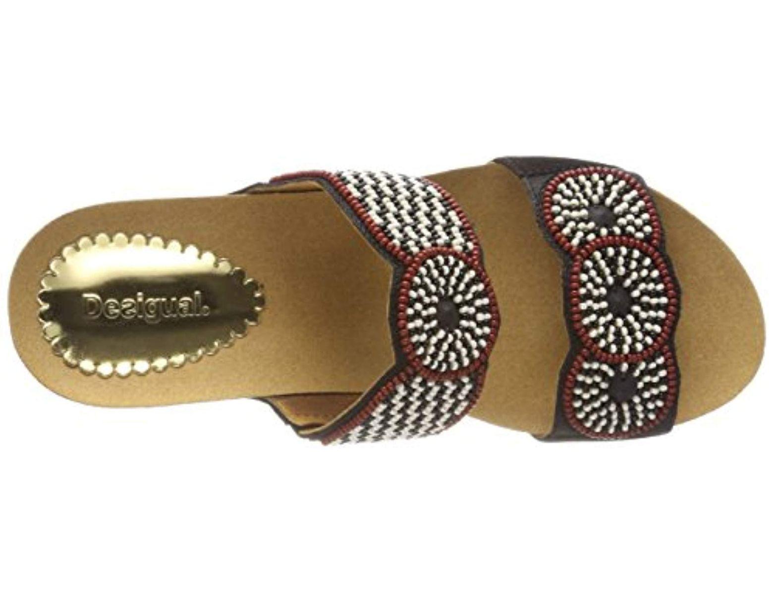 8abd67ec20 Desigual Shoes_cycle Africa Bn Flatform Sandals in Black - Lyst
