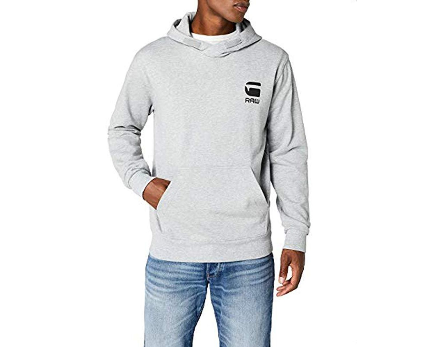 2ce7f0f653e G-Star RAW Doax Hooded Sw L/s Hoodie in Gray for Men - Save 3% - Lyst