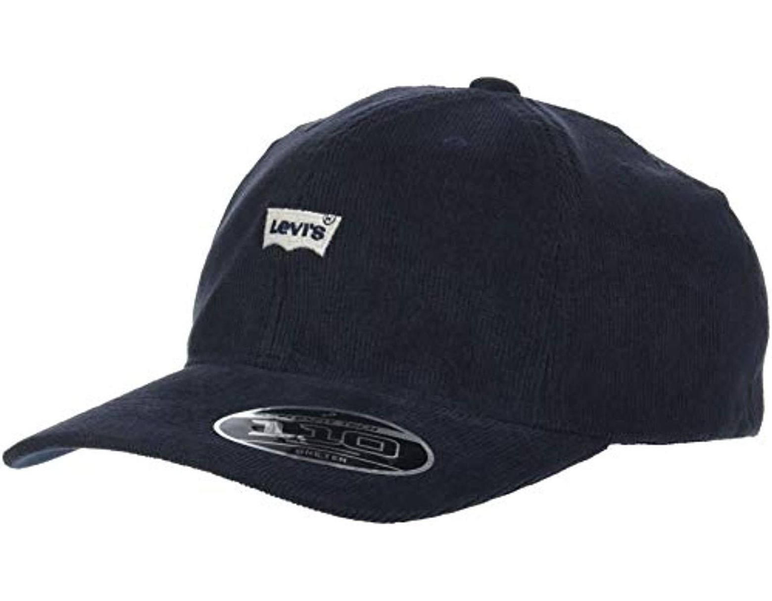 6f95fdcc Levi's Cord Batwing Hat Baseball Cap in Blue for Men - Lyst