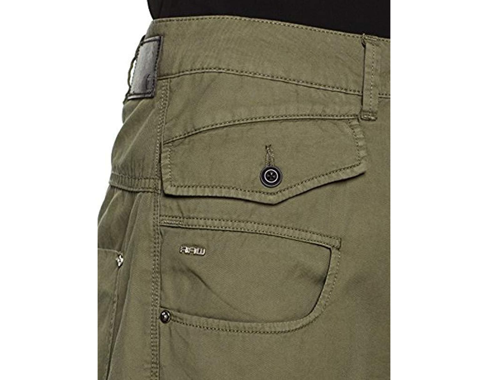 f61e037d5f0 G-Star RAW Army Radar Mid Waist Boyfriend Trousers in Green - Save 8% - Lyst