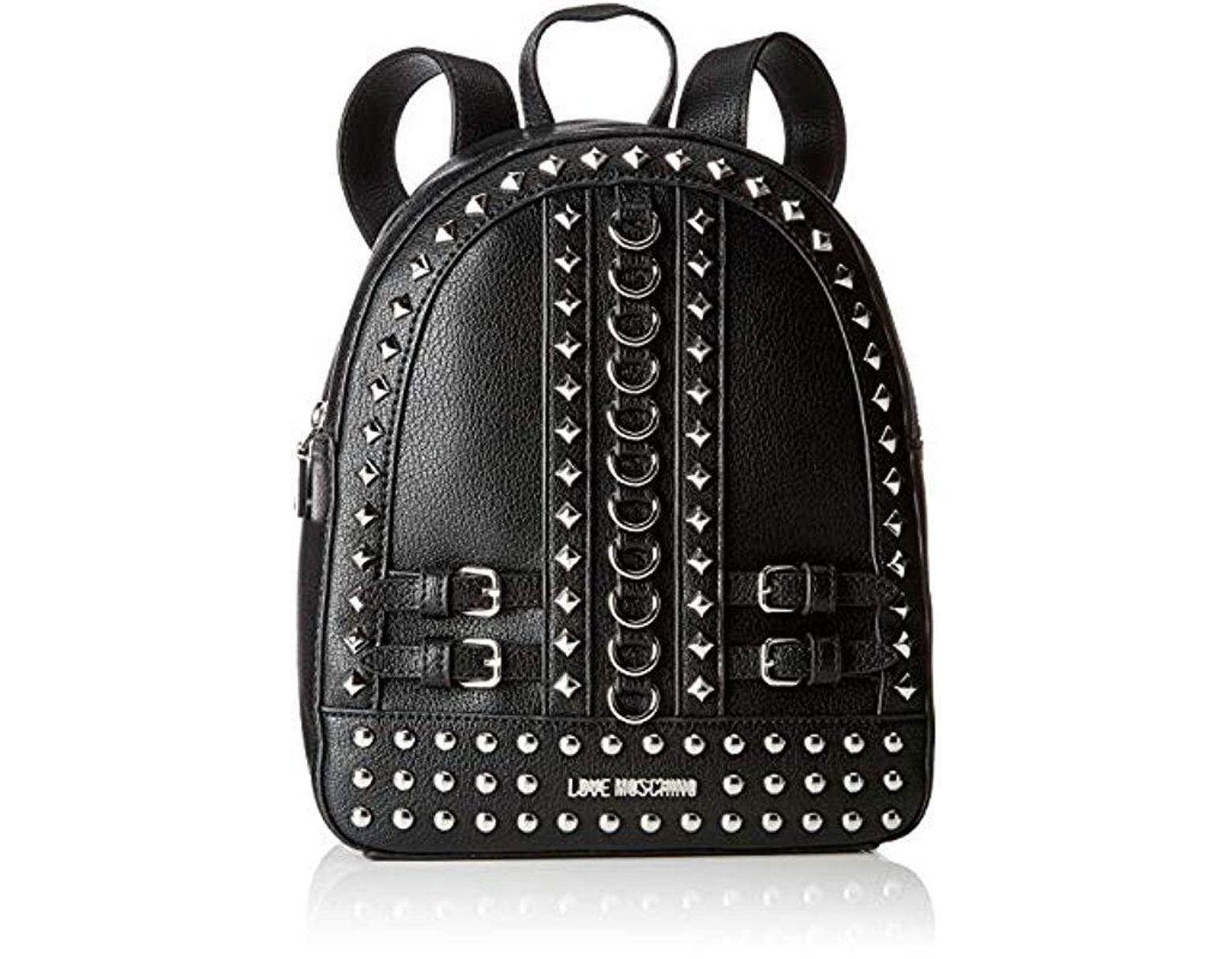 3d7d596ffaf Love Moschino Borsa Pebble Grain Pu Backpack Handbag in Black - Save 31% -  Lyst