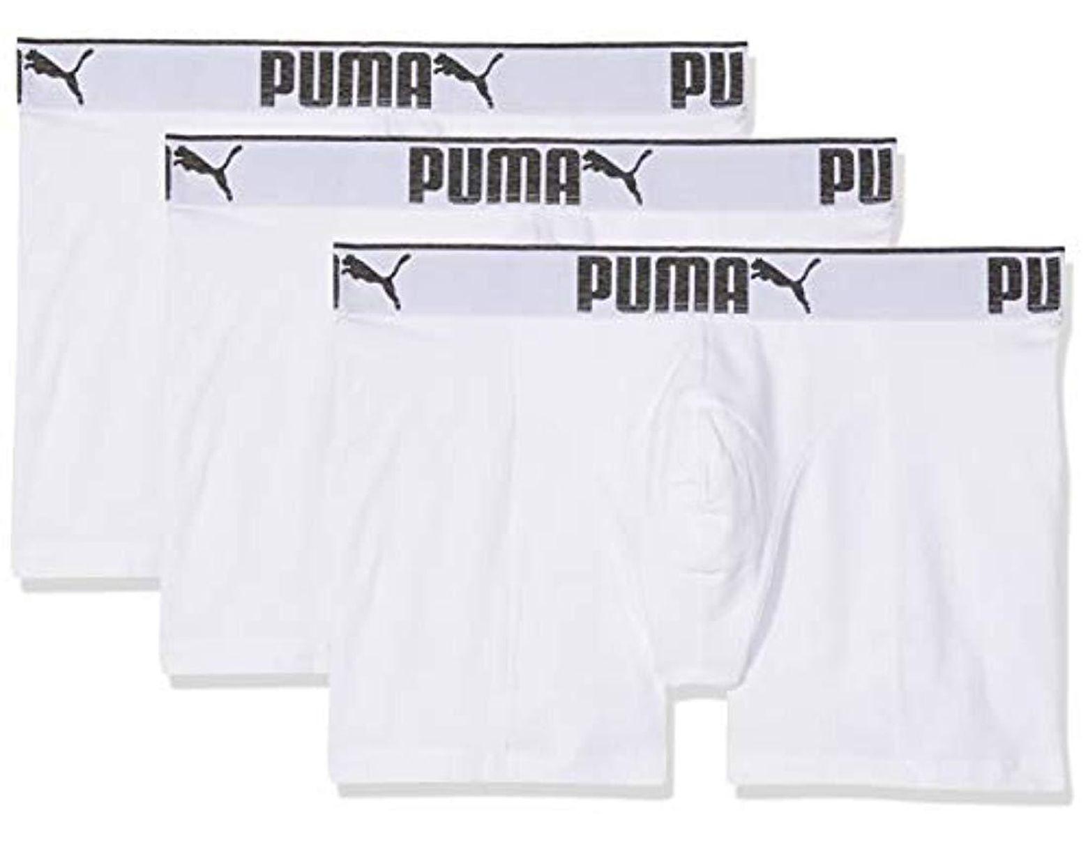 PUMA 3 X S Sueded Cotton Boxer Shorts White Medium in White