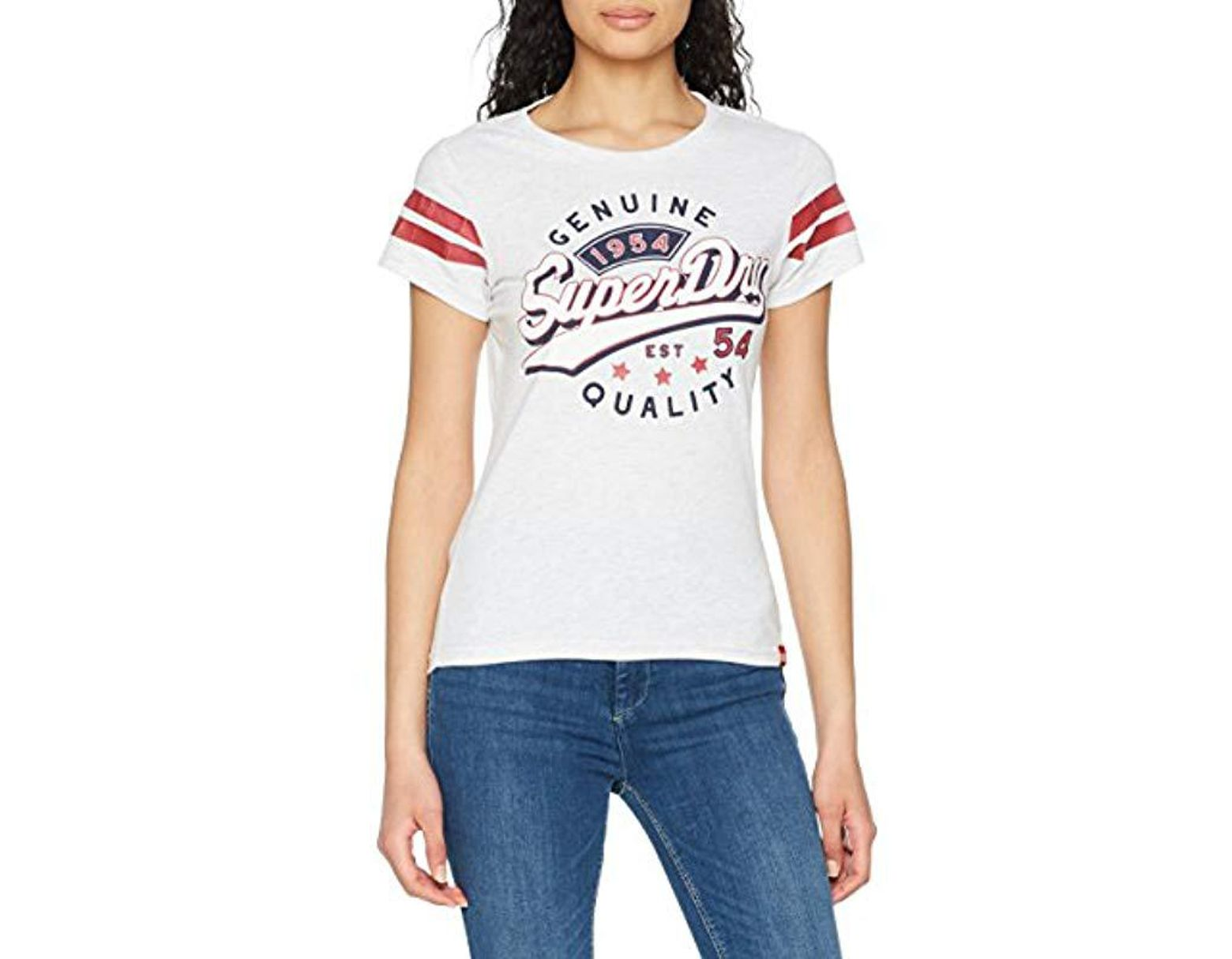 SUPERDRY VINTAGE LOGO SPARKLE ENTRY TEE Optic Snowy T-Shirt