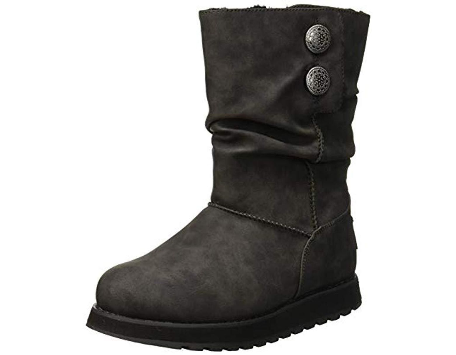 e287e596a37 Women's Black Keepsakes Leatherette Mid Button Winter Boot