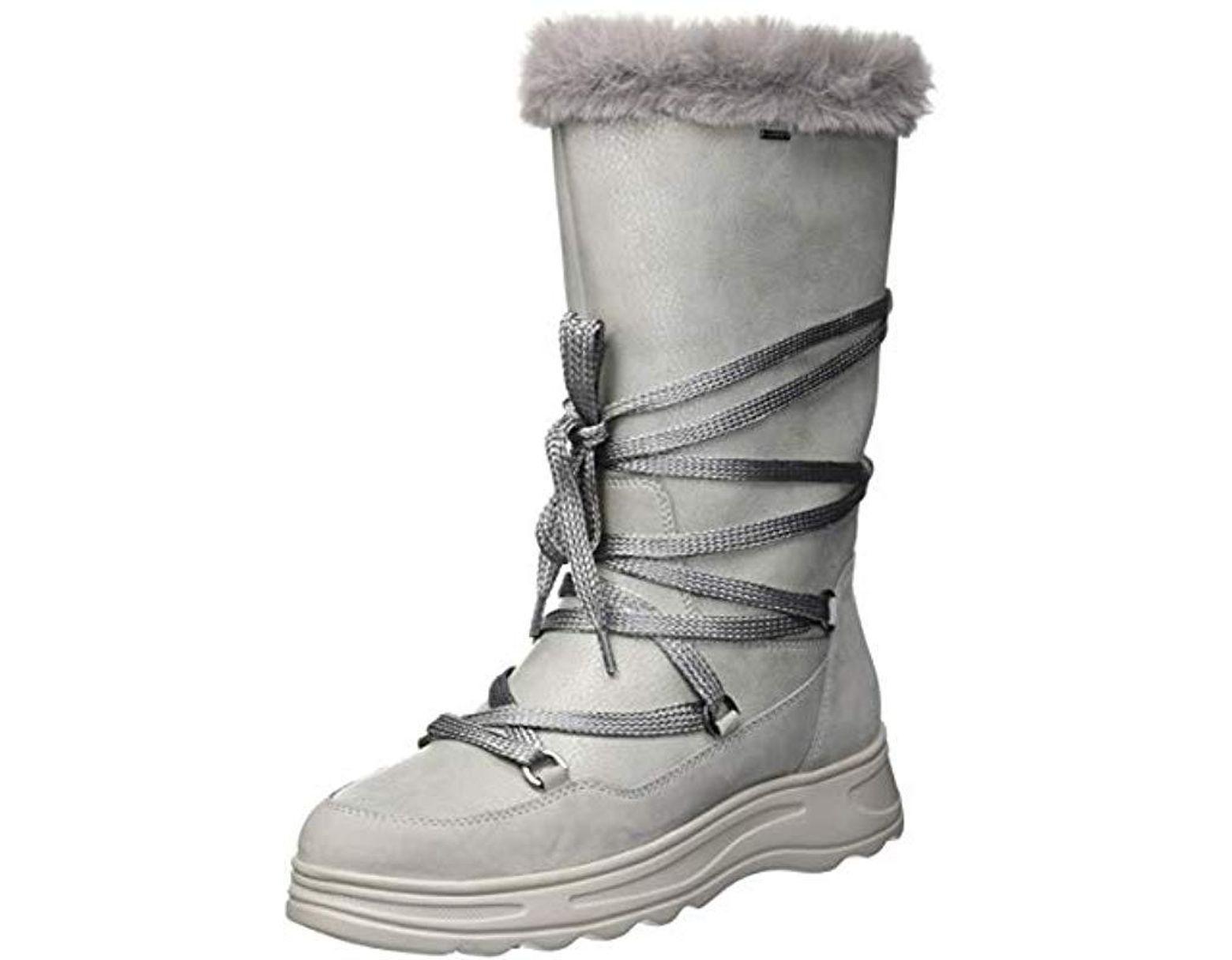 aba80c56835 Geox D Hosmos B Abx B Snow Boots in Gray - Lyst
