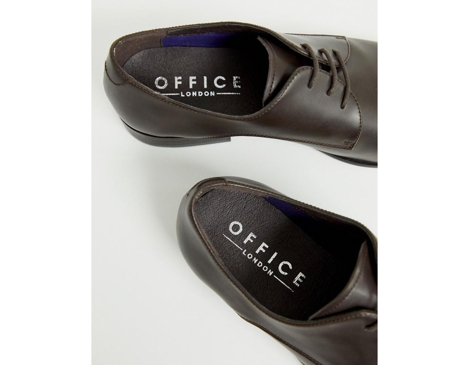 adc486fba20 Office Glide Derby Shoes In Brown Leather in Brown for Men - Lyst